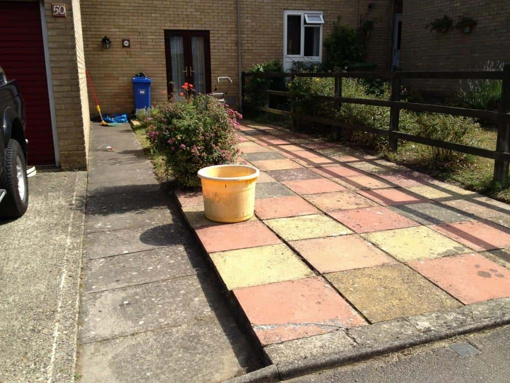 Garden and patio cleaning