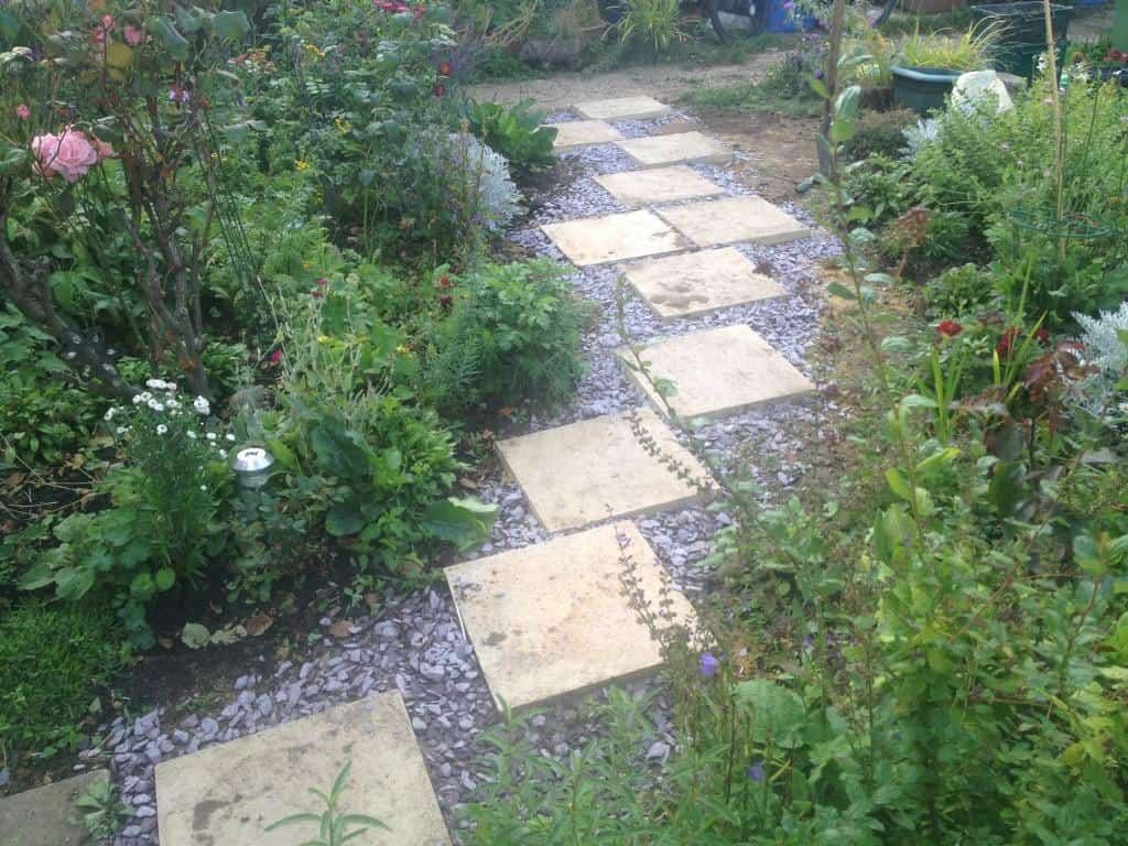 Funky garden pathway set up - Bracknell