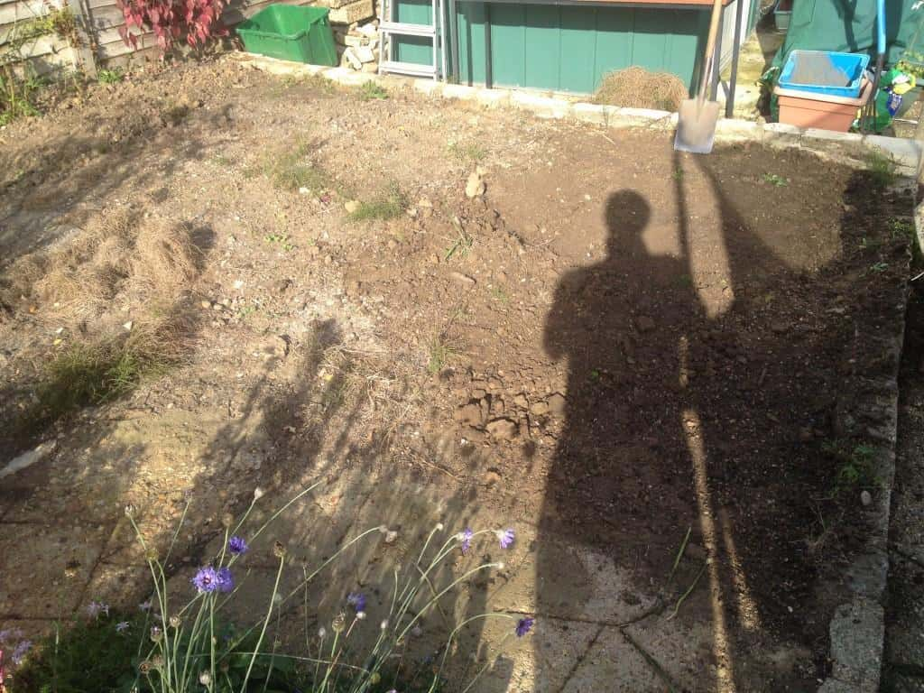Garden patch before it was covered with plum slates