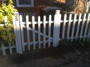 wooden fence repair post replaced
