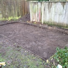 site dug up ready for membrane and aggregate