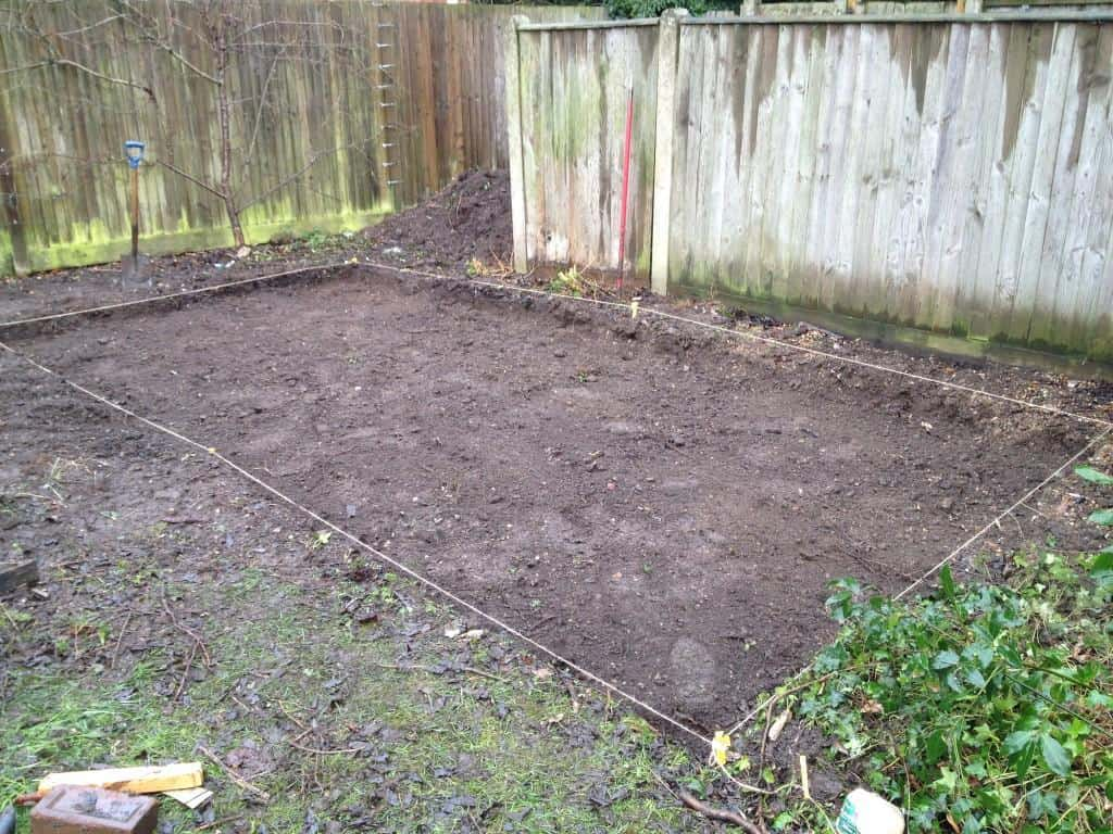 Landscaping - preparing ground for caravan
