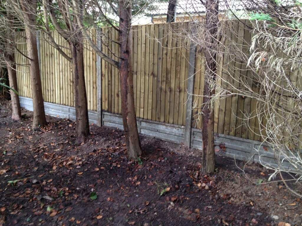 fencing project finished