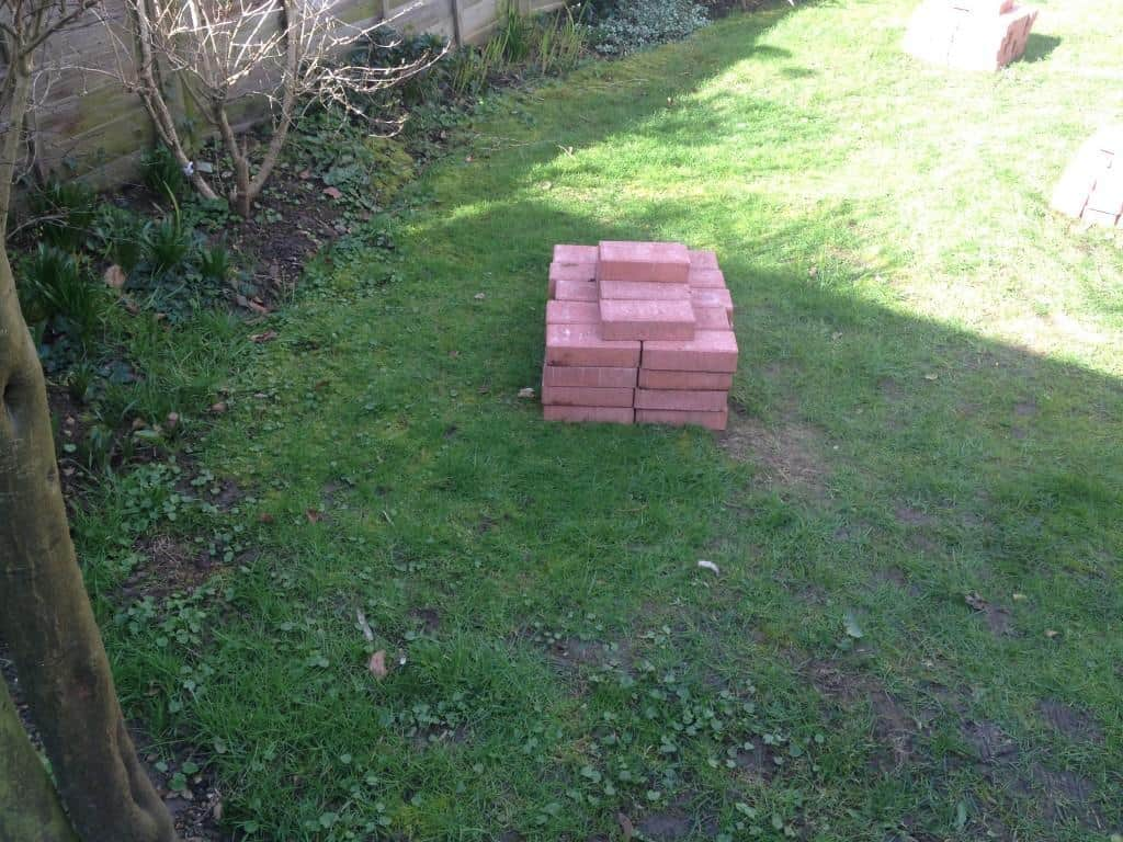 lawn edging - before