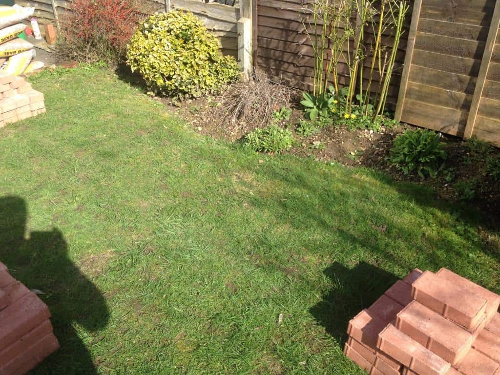 lawn edging before