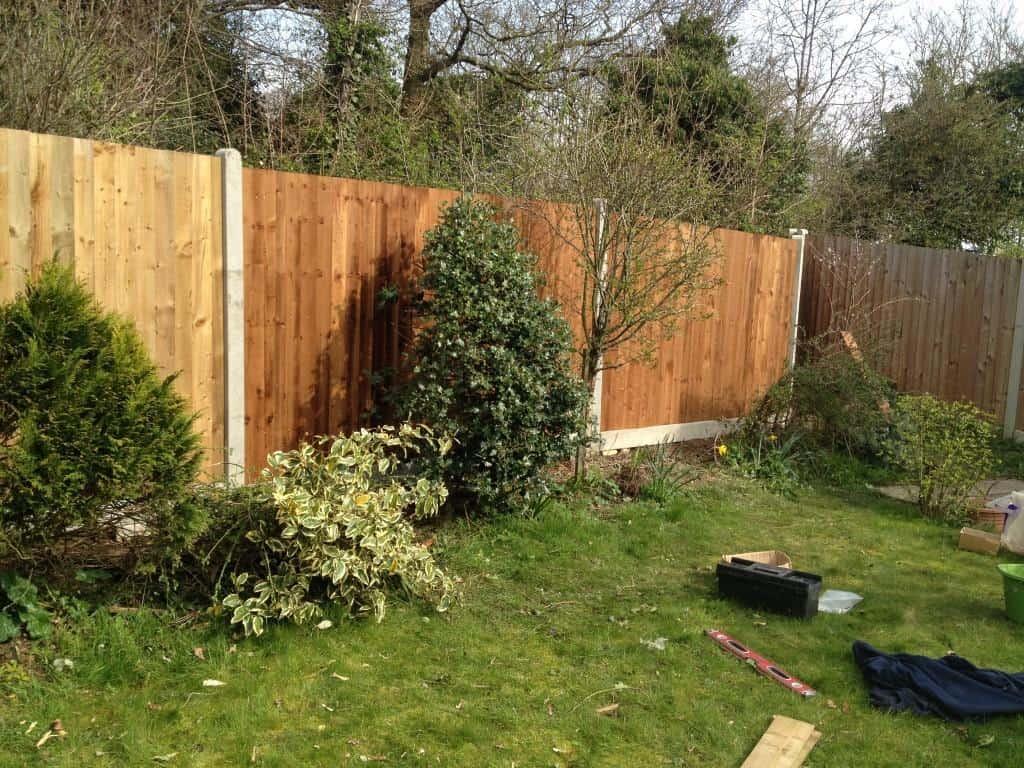 new closeboard fence