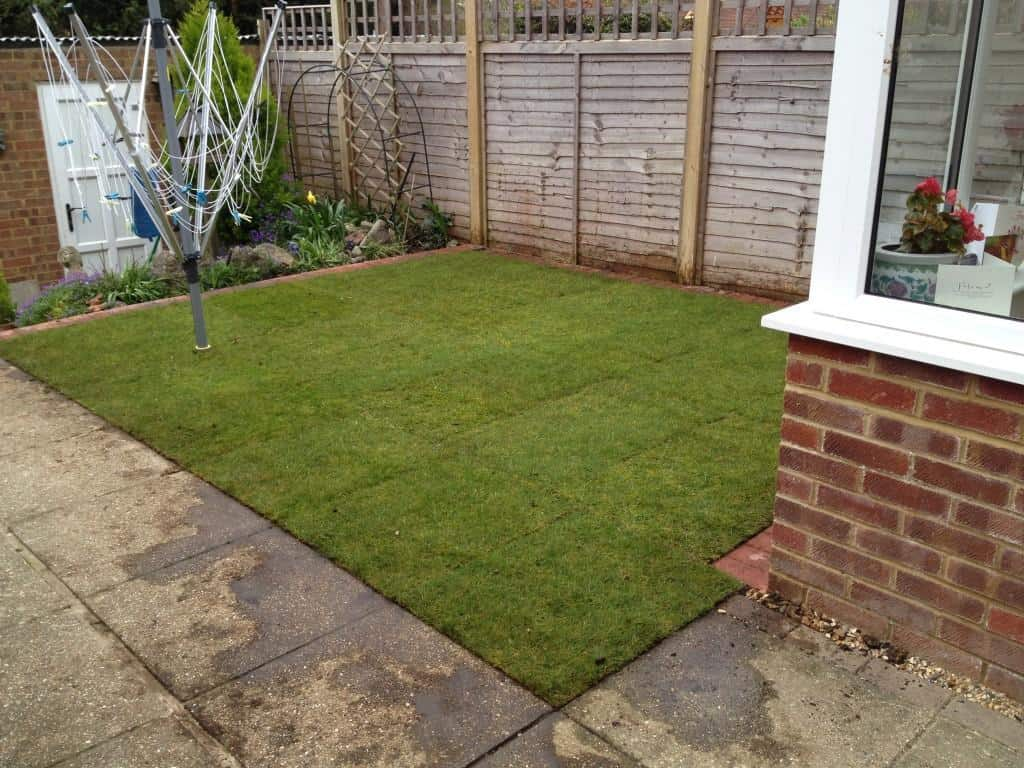 turfing job done