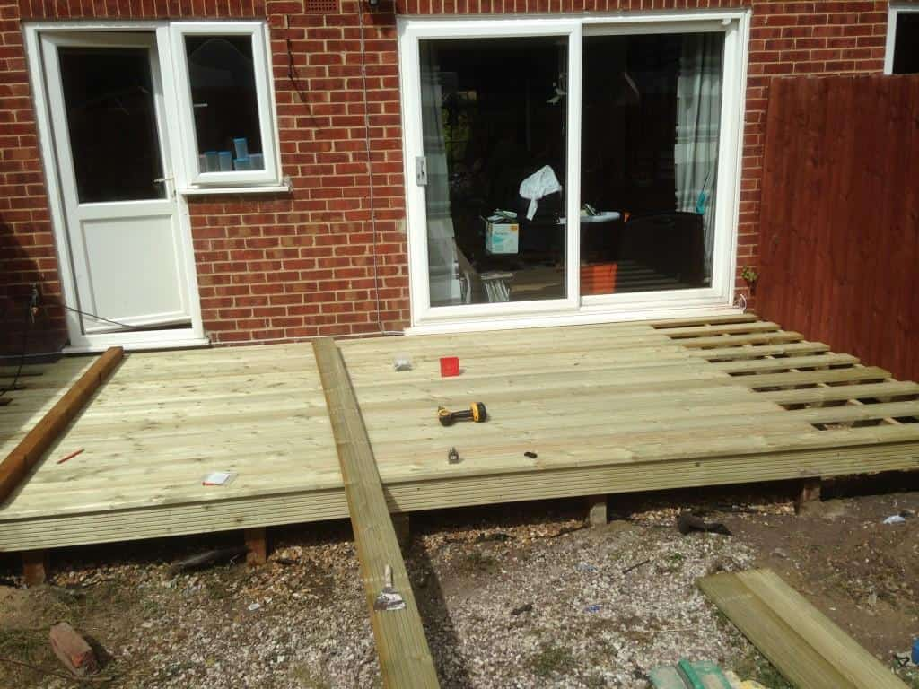 new decking nearly completed