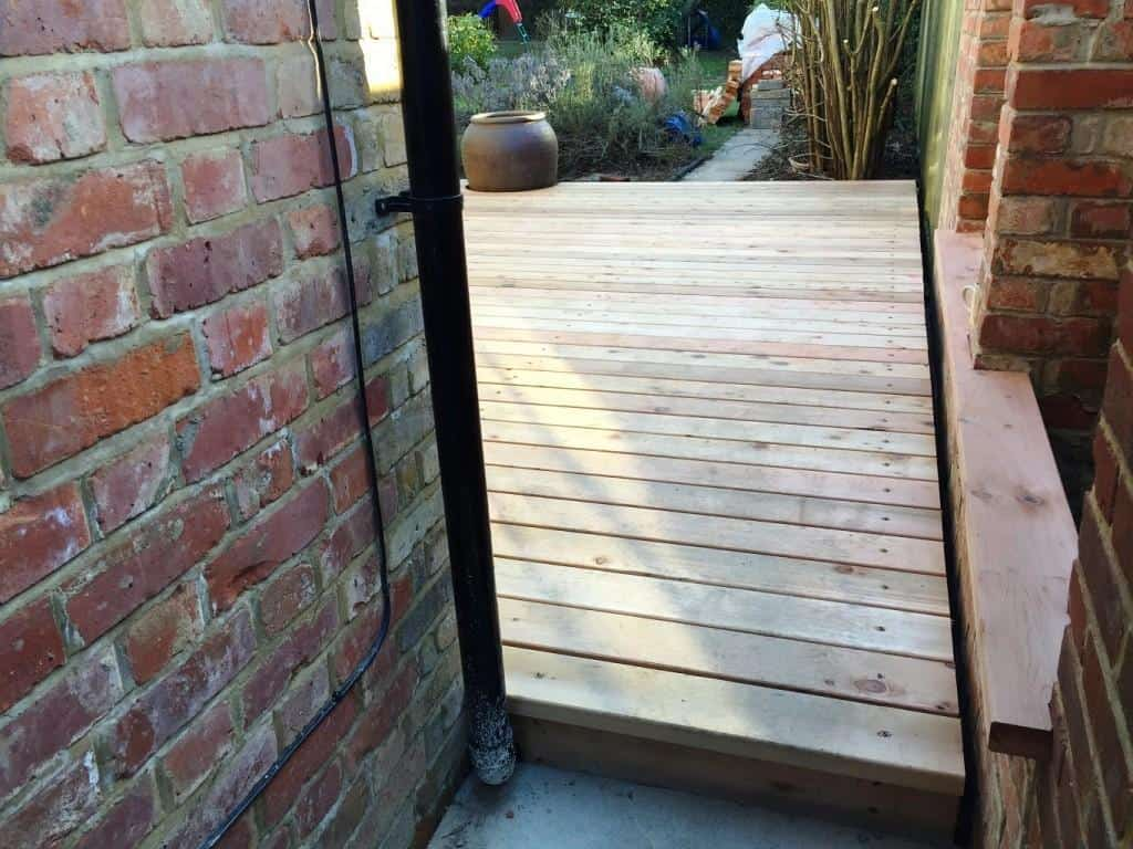 decking completed