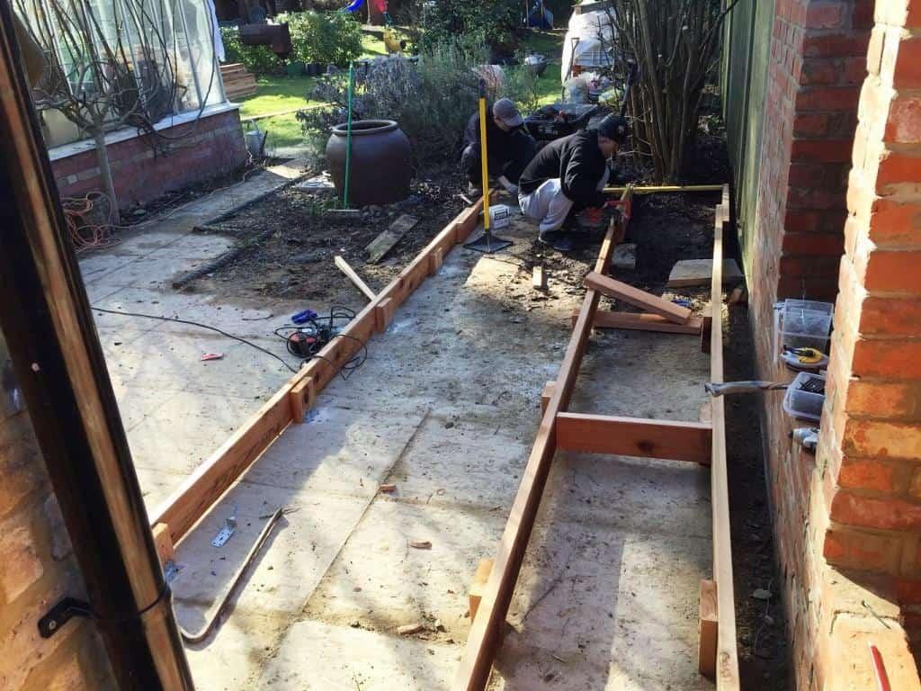 decking under construction