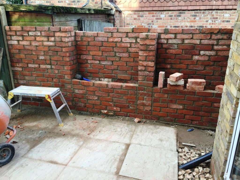 reading landscaper, brick wall construction