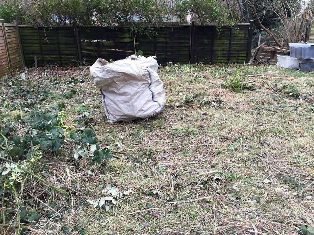 garden clear out in progress