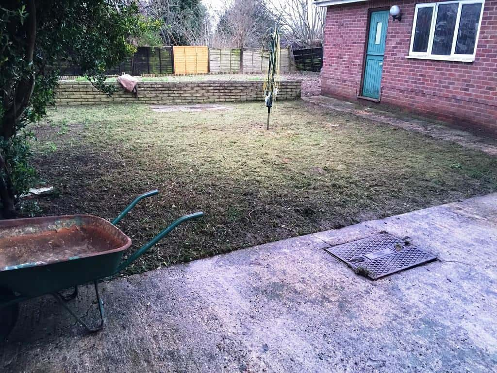 garden cleared out