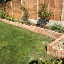 garden brick border done
