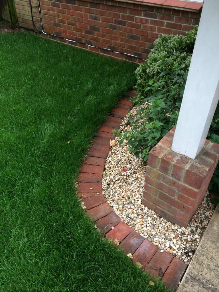 lawn brick edging