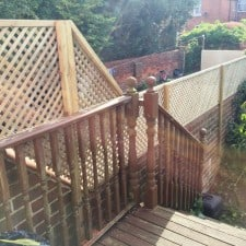 privacy trellis installed
