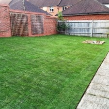 turfing garden service. back garden end result