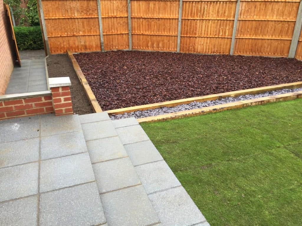 Garden in Reading recently landscaped by us