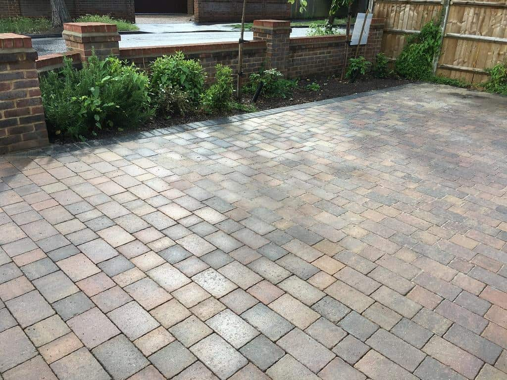landscaping reading. Driveway extension completed
