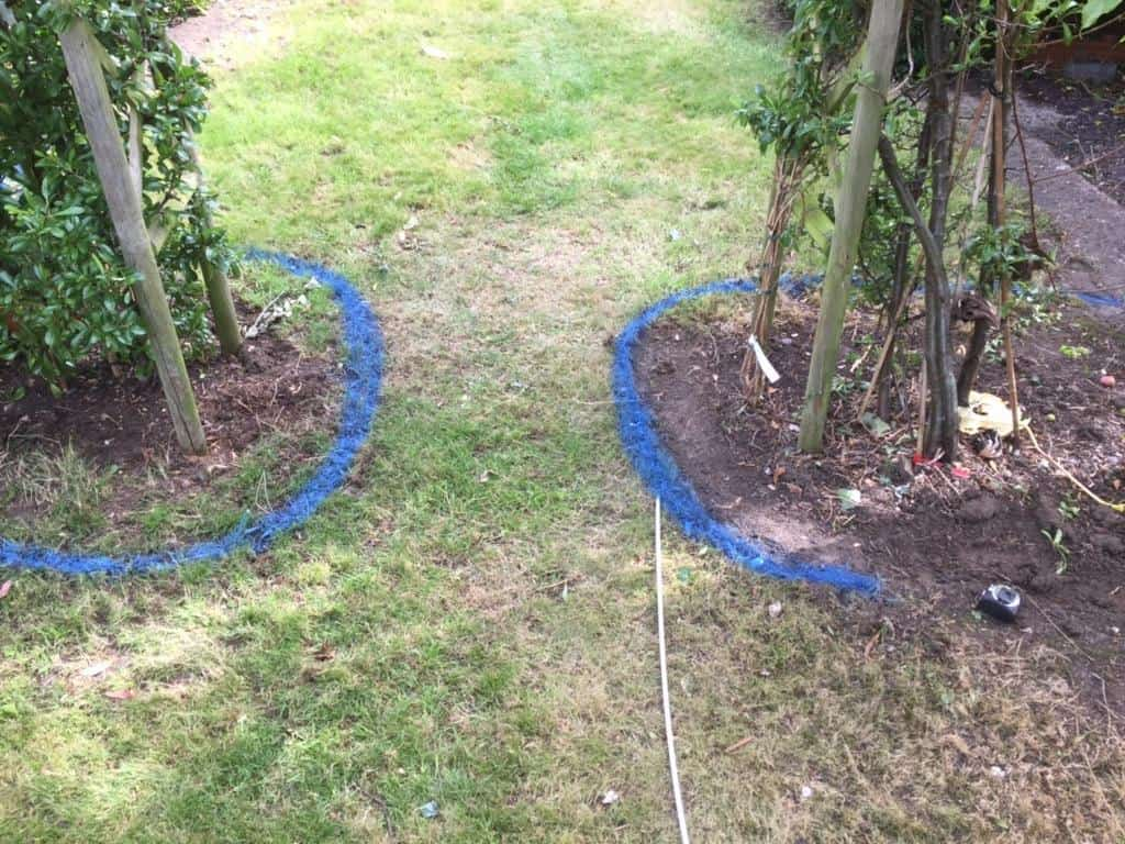 edging in garden