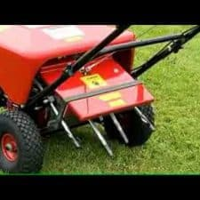 Lawn care - aerating lawn service