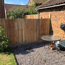 garden fence built