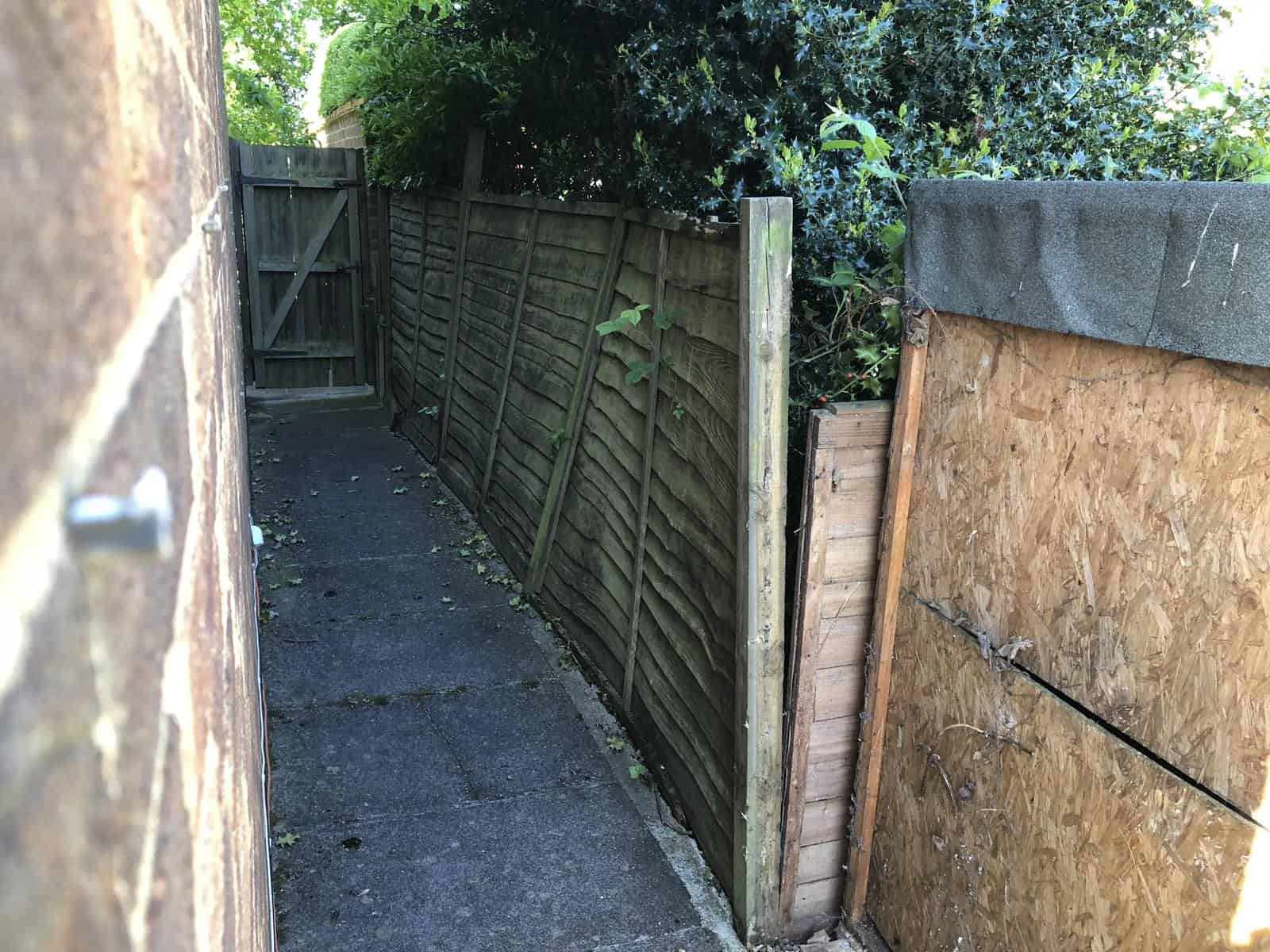 old fence to be replaced
