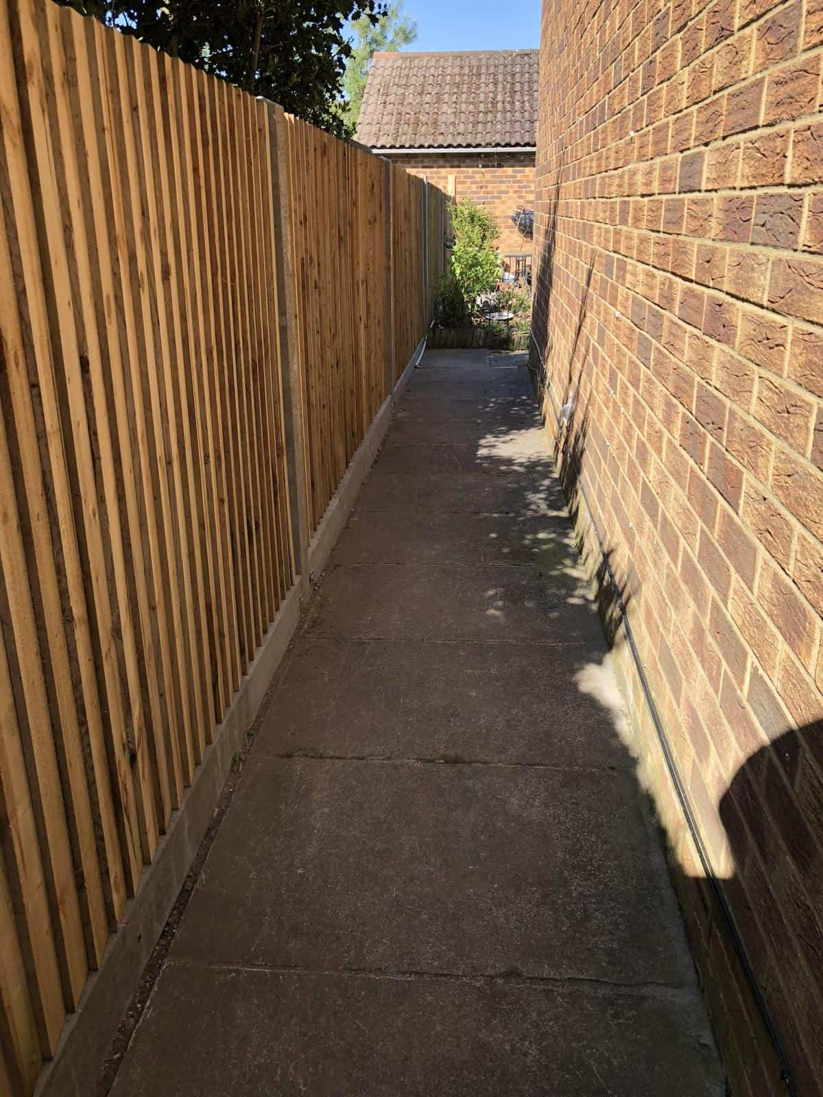 Latest fence work and some words from a customer