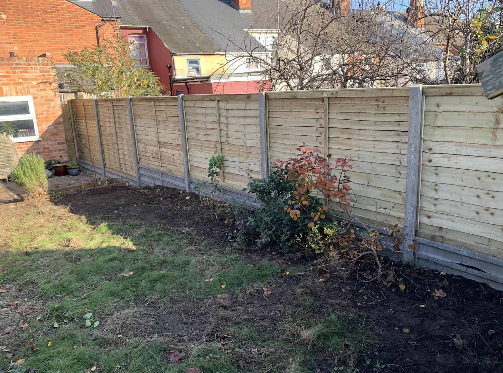 New fence built for a customer in Reading