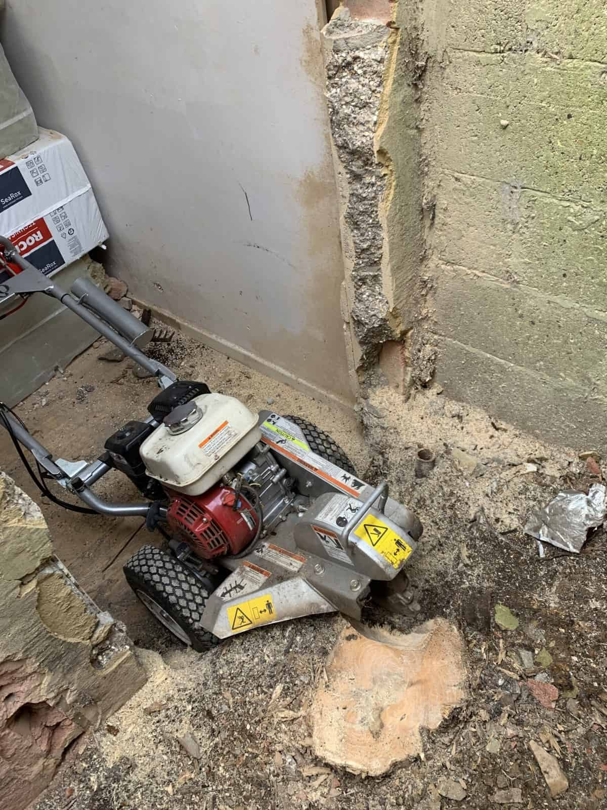 Stumps removal - difficult access