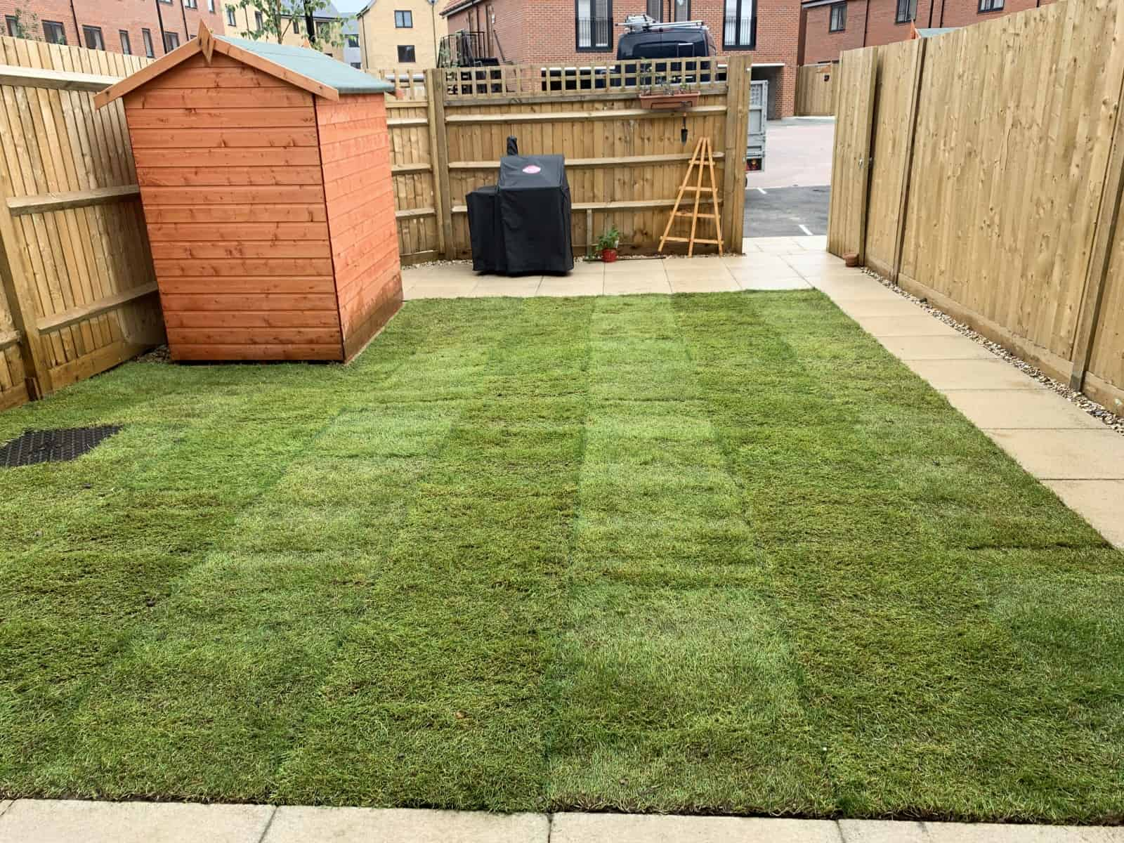 Turfing job - small garden in Reading