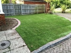 turfing work, garden landscaping. New lawn laid